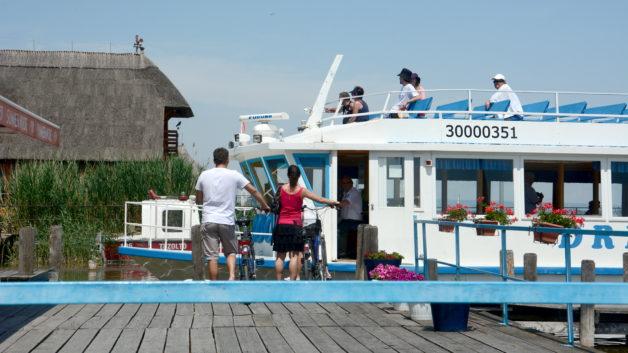 Radfahren Radfähre Mörbisch Illmitz Fertörákos Neusiedler See Schifffahrt Drescher Line Tourismus Ausflug