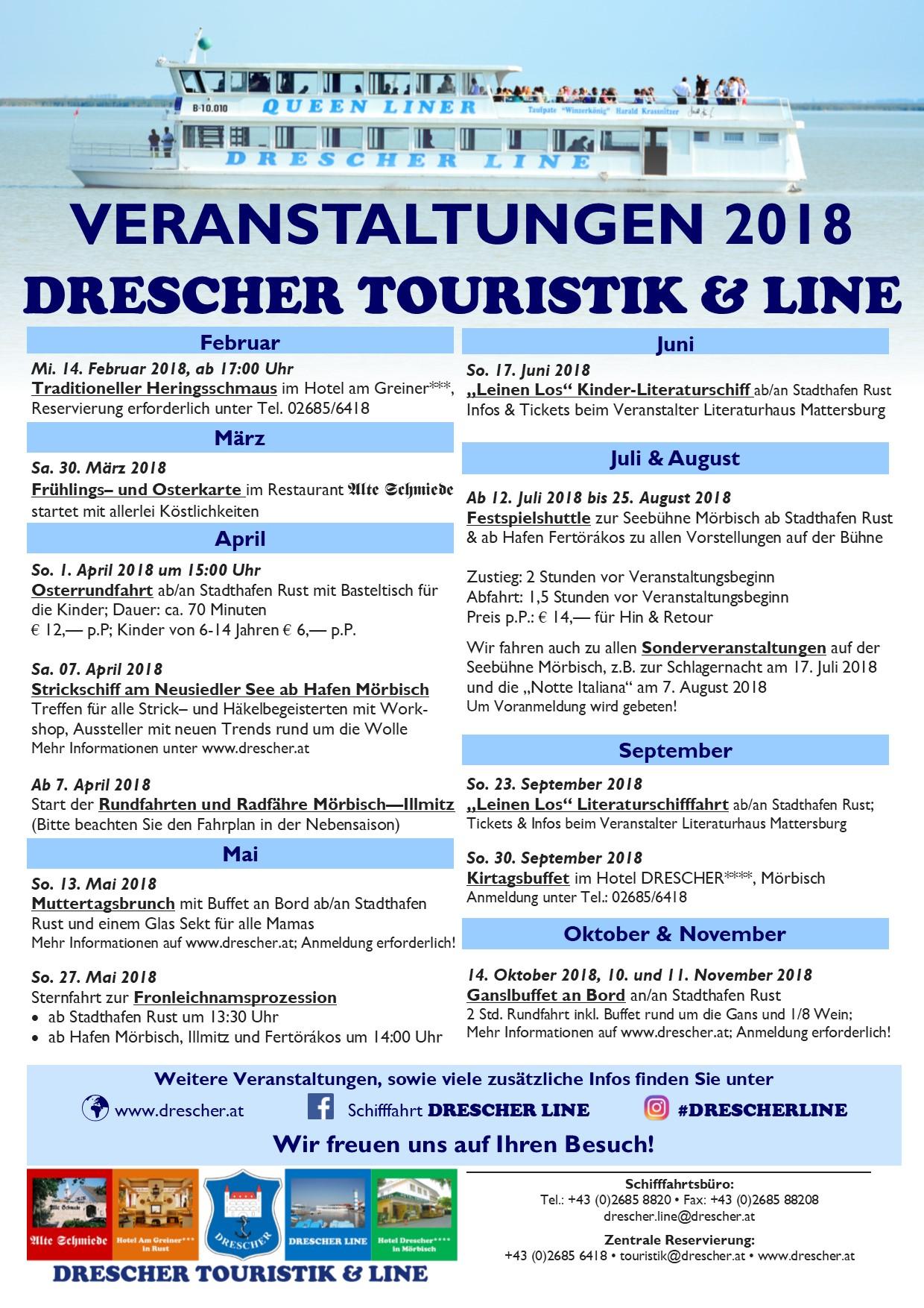 Fahrplan 2018 Drescher Touristik